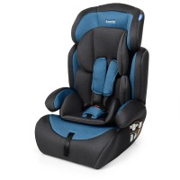 Автокресло Bambi M 3546 Navy Gray, синий, лен, группа 1+2+3