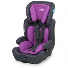 Автокресло Bambi M 4250 Purple, Isofix, фиолетовый, группа 1+2+3
