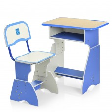 Парта HB-2029K-4 со стульчиком, голубая