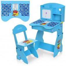 Парта M 0324-4 регулируемая, стульчик, синяя