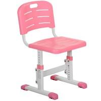 Парта M 3230-8 регулируемая высота и наклон до 60°, с регулир.стул., полка под столеш, розовая