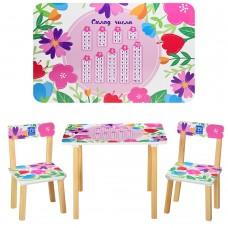 Столик 501-41 со стульчиком, Цветочки