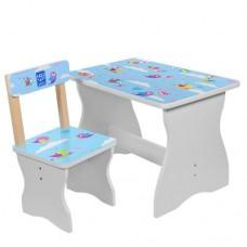 Столик 504-39 столеш60-40смвыс.до стол44см, стульчик д30-ш31, 5-в52смвыс.до сид.26, 5см, птички