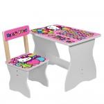 Столик 504-49 столеш60-40см/выс.до стол44см, стульчик д30-ш31, 5-в52см/выс.до сид.26, 5см, роз, HK