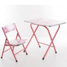 Столик A19-GZ складной, столешница 60-40см, 1стульчик принцесса