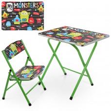 Столик A19-MONST стол 40*60см, 1 стульчик монстр
