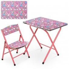 Столик A19-UNI стол 40*60см, 1 стульчик единорог