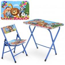 Столик A19-ZOO складной, столешница 60-40см, 1стульчик зоопарк