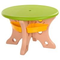 Столик B0301 диам.76см, стульчики 4шт, пластик, зеленбежевый, упаков. в 2 коробки