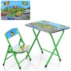 Столик M 3929 складной, 60-40см, со стульчиком, зеленый