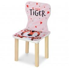 Стульчик 406-59 ш28-г28-в58см, высота до сиденья 29см, сиденье ш28-г24см, тигр