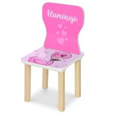 Стульчик 406-70-2 ш28-г28-в58см, высота до сиденья 29см, сиденье ш28-г24см, фламинго