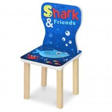 Стульчик 406-74 ш28-г28-в58см, высота до сиденья 29см, сиденье ш28-г24см, акула