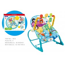 Детский шезлонг Bambi 8615, голубой
