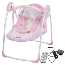 Детские качели шезлонг Bambi 32005, розовый
