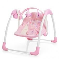 Детские качели-шезлонг Bambi 6508, розовый