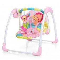 Детские качели шезлонг Bambi 6519, розовый