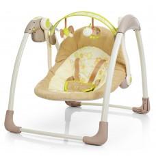 Детские качели-шезлонг Bambi 6558, бежевый