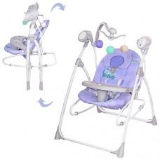 Детские качели шезлонг Bambi M 1540-04-2, фиолетовый