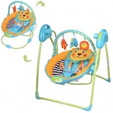 Детские качели-шезлонг Bambi M 2130-3 Львенок, голубой