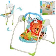 Детские качели-шезлонг Bambi M 3243, разноцветный
