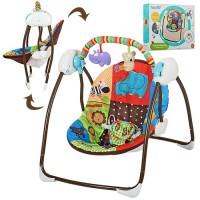 Детские качели-шезлонг Bambi M 3244, разноцветный