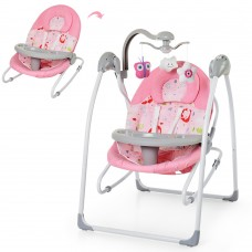 Детские качели шезлонг Bambi SG119-8, розовый