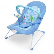 Детский шезлонг Bambi 30606-1, голубой