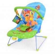 Детский шезлонг-качалка Bambi 60661G, голубой