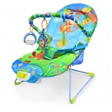 Детский шезлонг-качалка Bambi 60662, голубой