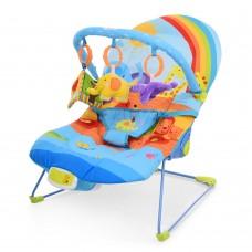 Детский шезлонг-качалка Bambi 60668 Радуга, синий