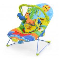 Детский шезлонг-качалка Bambi 60669, синий