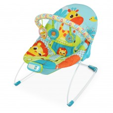 Детский шезлонг-качалка Bambi 6875 Жираф, голубой