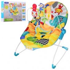 Детский шезлонг Bambi 88964, желто-голубой