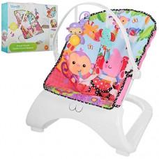 Детский шезлонг Bambi M 3250-1, розовый