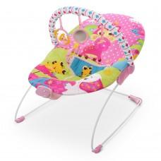 Детский шезлонг-качалка Bambi 6790, розовый