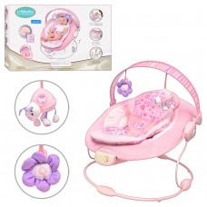 Детский шезлонг-качалка Bambi 60681-1, розовый