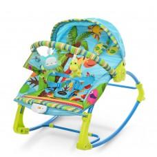 Детский шезлонг-качалка Bambi PK-306-4, синий