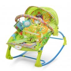 Детский шезлонг-качалка Bambi PK-306-5, зеленый