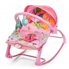 Детский шезлонг-качалка Bambi PK-306-8, розовый