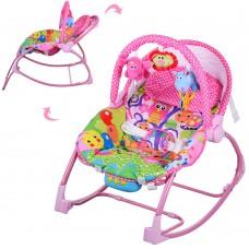 Детский шезлонг-качалка Bambi PK 308 Pink, розовый