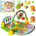 Коврик для младенца PA318 подвес5шт 1в-зерк, дуга, пианино, муз, св, 2вида, на бат.67-48-10cм