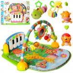 Развивающий коврик-пианино для младенца Bambi PA318 дуга, пианино, подвески, музыка