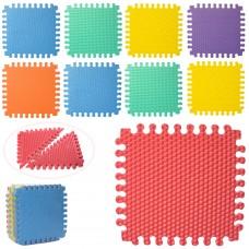 Коврик-мат M 5735 EVA, напол.покрыт, треугольники, 18дет 9мм, 30-30см, 7текстур