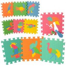 Коврик Мозаика M 0387 EVA, птицы, 10дет 8мм, 29-29см, пазл