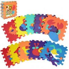 Коврик Мозаика M 2616 EVA, животные, 10д 10мм, 31, 5-31, 5см, массаж, 6текстур, пазл, 31, 5-31, 5-10см