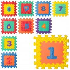 Коврик Мозаика M 5731 цифры, 10д 31, 5-31, 5-1см, 6текстур, массаж, пазл, микс цв, куль