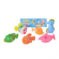 Пищалка 2107-6 морские животные, 6 шт,
