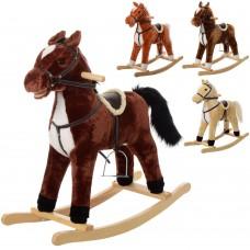 Качалка MP 0082 лошадка, 76-28-68см, 4цв, звук цоканье-ржание, шелит ртом, на батарейках