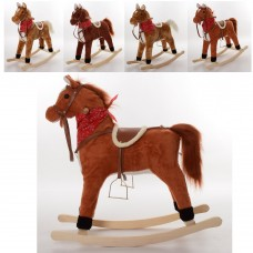 Качалка MP 0086-3 лошадь, 69-71, 5-28см, муз, звук англ, подвиж.рот/хвост, 3цвета